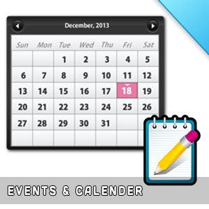 Events & Calender